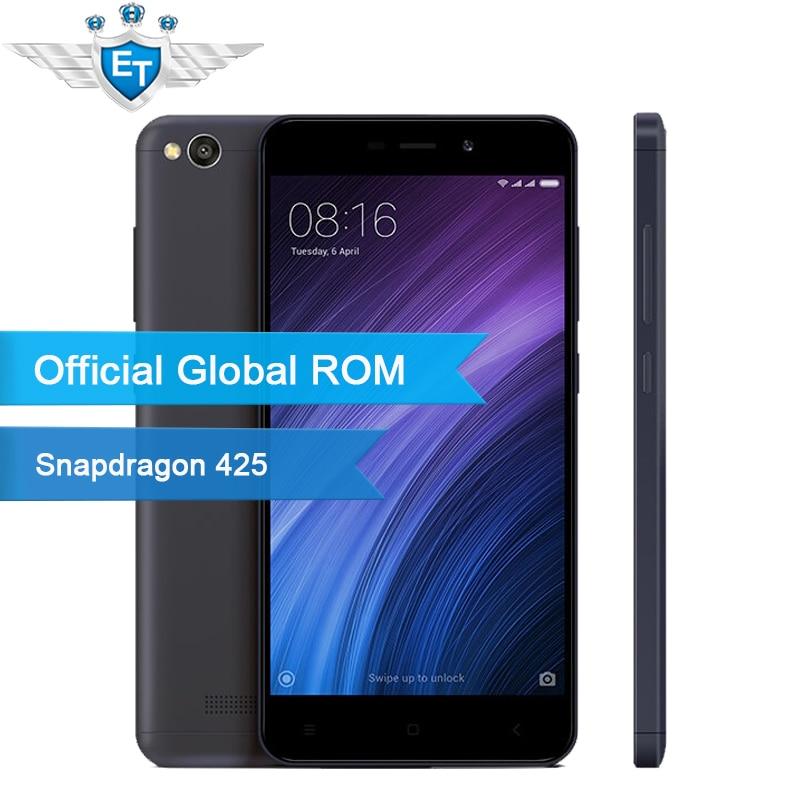 """Цена за Оригинал xiaomi redmi 4а 4 смартфон 2 ГБ ram 16 ГБ глобальной rom 5.0 """"FDD LTE HD Snapdragon 425 Quad Core 3120 мАч Батареи"""