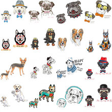 ZOTOONE Buy One Get Free Cute Dog Unicorn Tiger Iron on Sticker Transfer Patches for Clothing Heat Animal DIY Decoration E