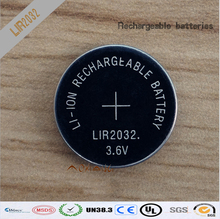 New! 100pcs/lot LIR2032 3.6V Li-on Rechargeable Button Coin Cell Battery Can Replace CR2032 for watches