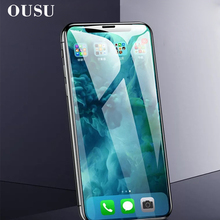OUSU Phone Screen Protector 10D Scratch Proof Tempered Glass For iphone XS Max 6s 7 8 plus Protective Film XR X