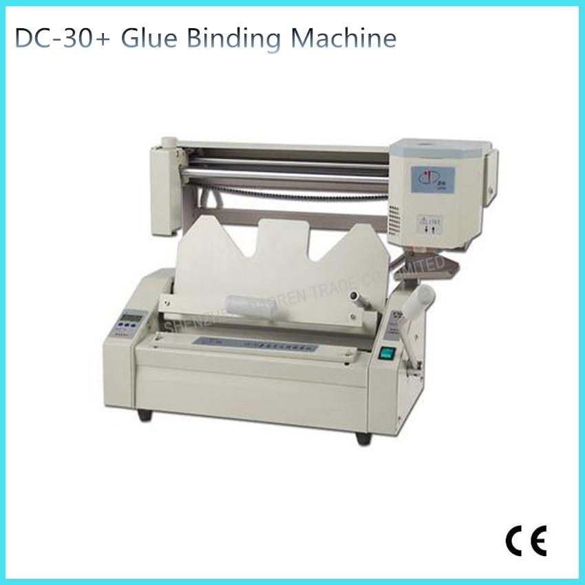 DC-30+ binding machine glue binding machine book binding machine Wireless glue book binder machine with LCD 110V /220V