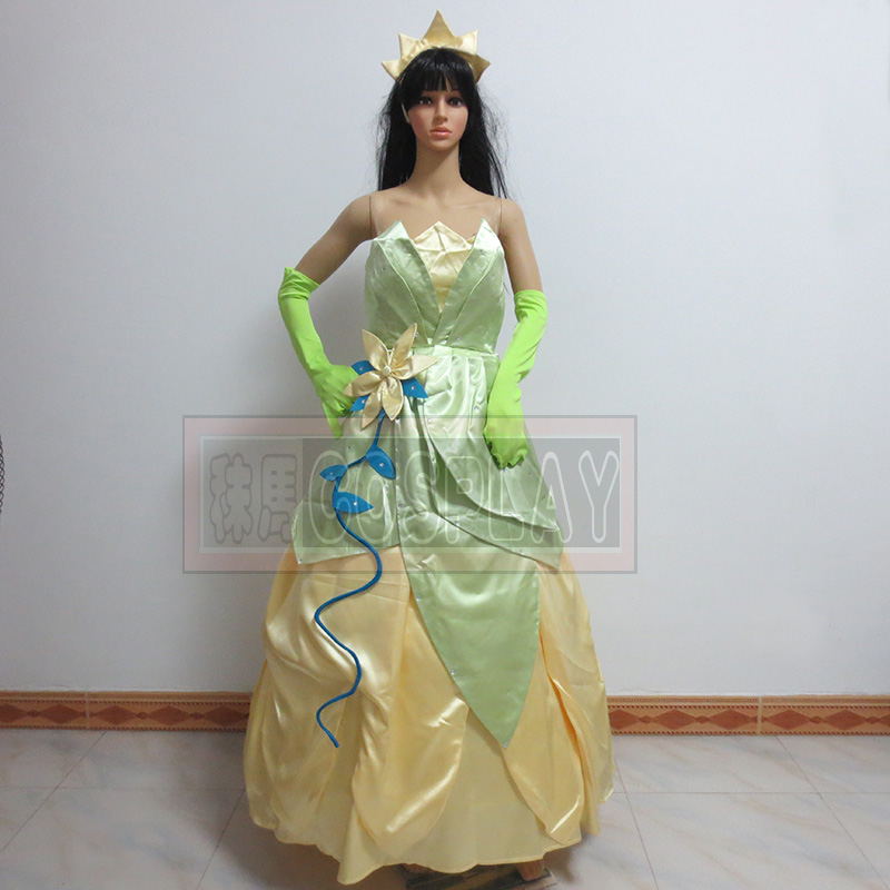 Tiana Cosplay Princess Costume Tiana Dress The Princess and the Frog Cosplay costume