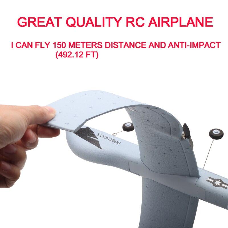 Avion RC 20 Minutes temps de vol planeur jouet avion avec LED 2.4G télécommande main lancer envergure enfants RC Jet avion mousse 2