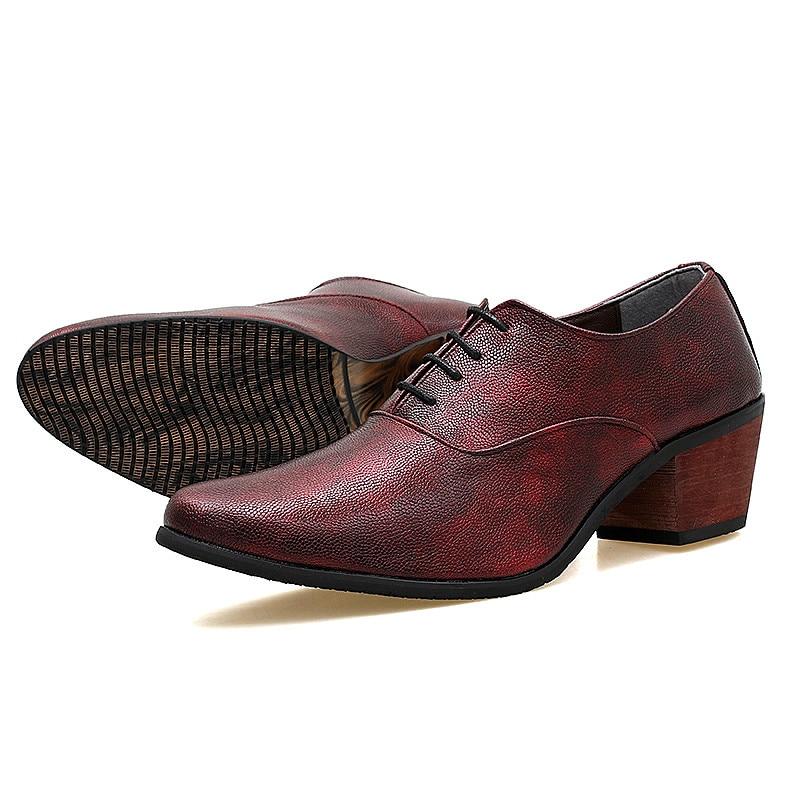 Sapatos wine Se Até Red Sapatas Escritório gray Vintage Homens Rendas blue Para Apontado Dedo Vestem Dos Black Os De Do Oxfords H7zxEwB7q