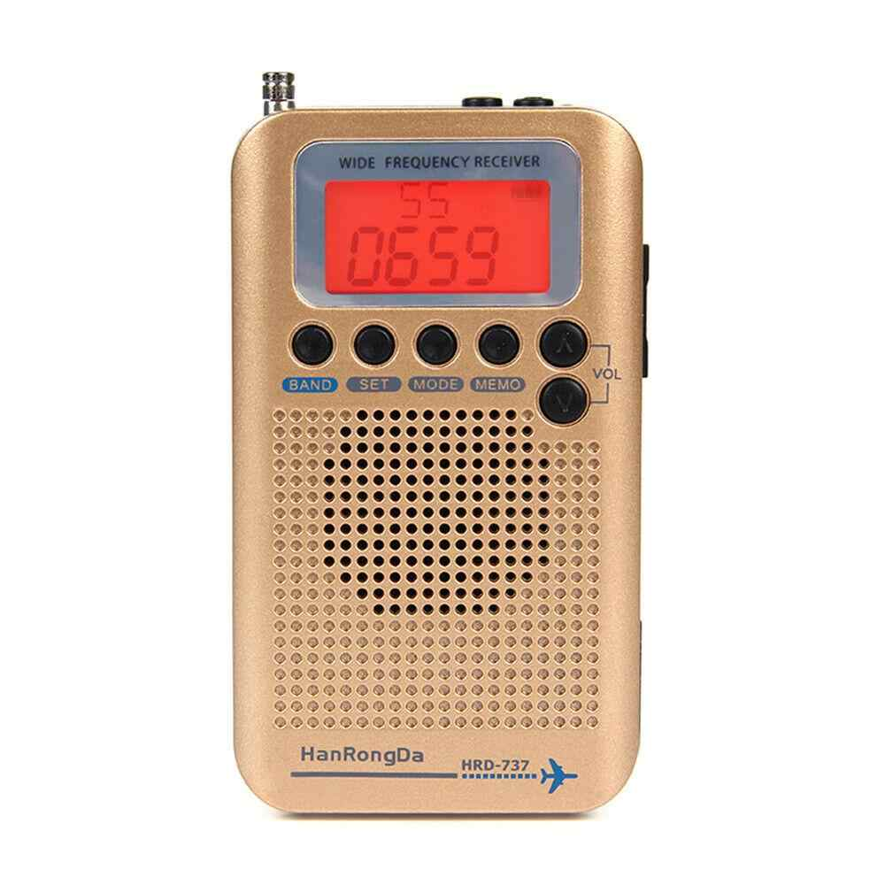 Receptor completo portátil da faixa dos aviões de rádio da faixa fm/am/sw com sinal forte conveniente mini rádio sinal forte r60