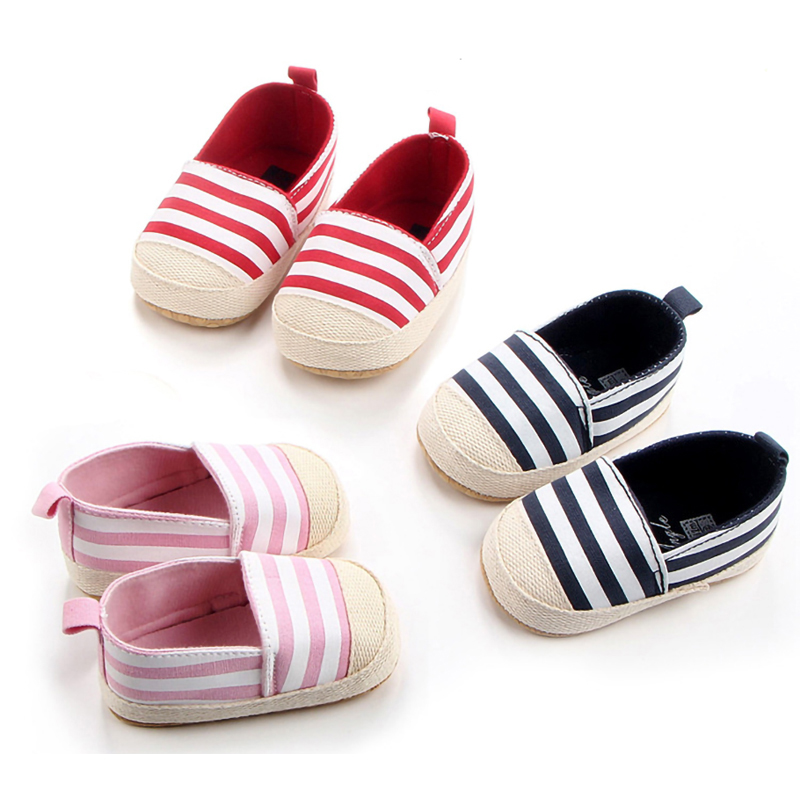Striped Baby Boys Girls Shoes Soft Sole Anto-Slip Baby Shoes Spring Autumn Lovely First Walkers Casual Infant Toddler