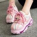 Туфли на платформе 2016 Японский Стиль Женщины Лианы Обувь Дышащая Черные Туфли