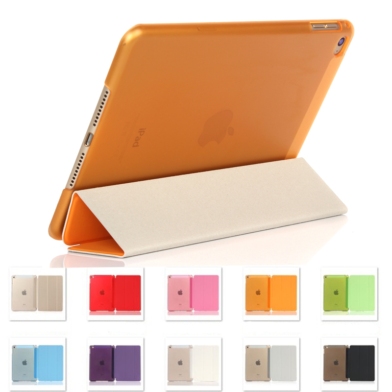 Slim Smart Case for iPad Mini 4 Flip Stand PU Leather Funda Cover for iPad Mini 4 Trifold Tablet Protector Auto Sleep / Wake up case for ipad pro 10 5 ultra retro pu leather tablet sleeve pouch bag cover for ipad 10 5 inch a1701 a1709 funda tablet case