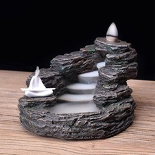 Backflow Incense Burner Alpine Flowing Water Resin Crafts Returning Ornamental Home Teahouse Use