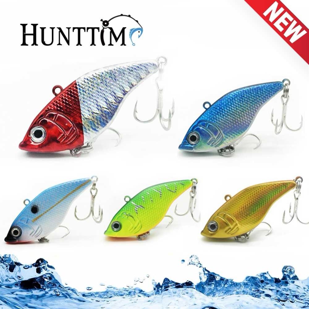 1PCS Fishing Lure VIBration Baits 6 colors Fish VIB Hard Bait Lifelike  2*3 Hook 5CM 15G Sinking Minnow Crankbait Plastic