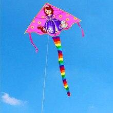 Высококачественная линия воздушных змеев принцессы ripstop нейлоновые игрушки Воздушные Змеи для детей воздушный змей kartal koi fish fun factory big