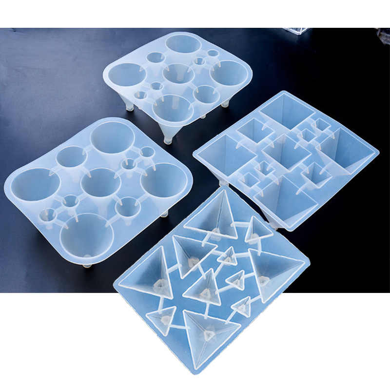 1PC Pyramid Cones Shaped Silicone Jewelry Mold UV Resin Epoxy Tools Jewelry  Making Tools DIY Pendant Molds