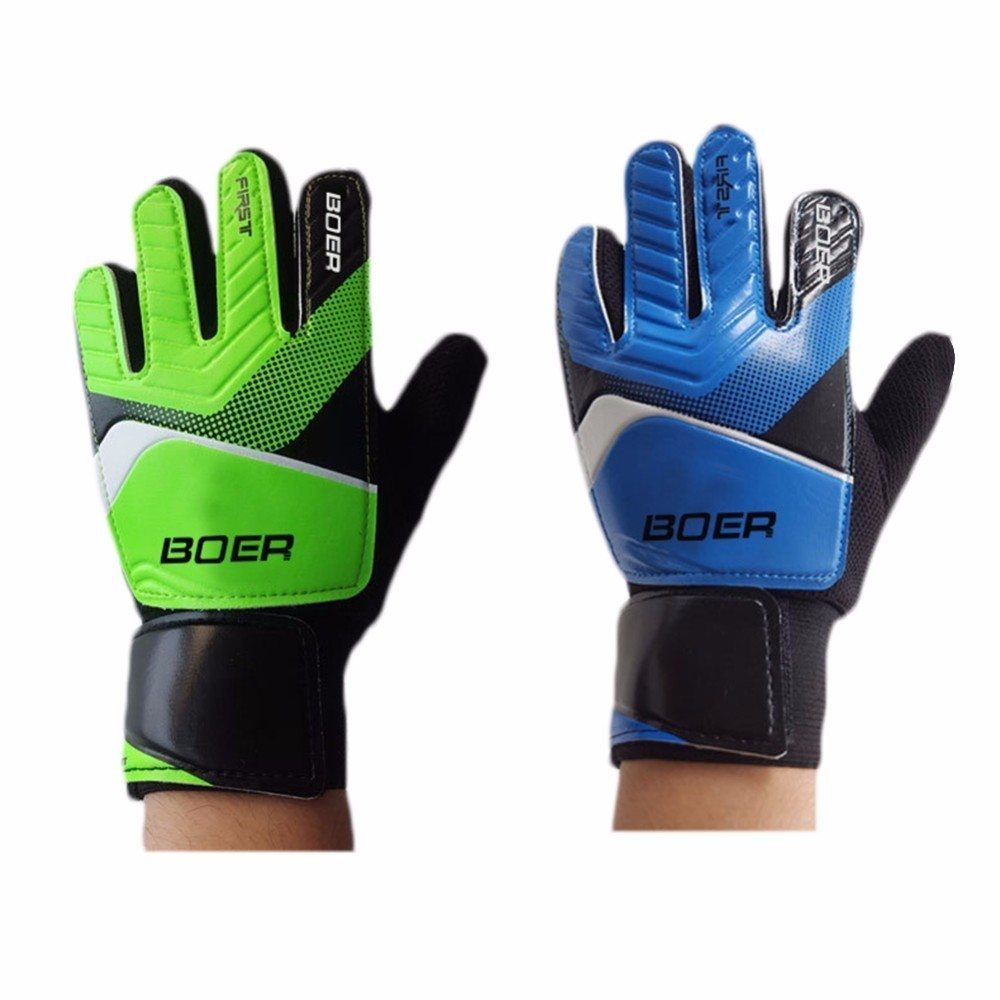 NEUE Professionelle Fußball Torwart Glvoes <font><b>Latex</b></font> Anti-Slip Fingerschutz Zeigefingerling Kinder Trainings <font><b>Football</b></font> Goalie Handschuhe image