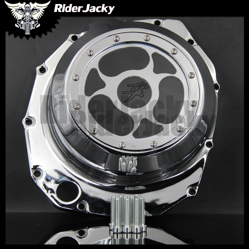 Engine Stator cover see through Glass For SUZUKI Hayabusa busa GSX1300R 1999-2013 2004 2005 2006 2007 2008 2009 2010 2011 2012 rear seat cover tail section fairing cowl for suzuki hayabusa gsxr1300 gsx1300r 1999 2000 2001 2002 2003 2004 2005 2006 2007