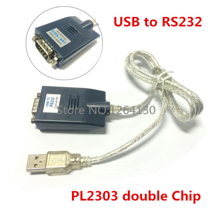 PL2303 double chip USB 2.0 to RS232 DB9 COM Serial Port Device Converter Adapter Cable Free Shipping free shipping black usb 2 0 to serial rs232 db9 9pin adapter converter cable for win 7
