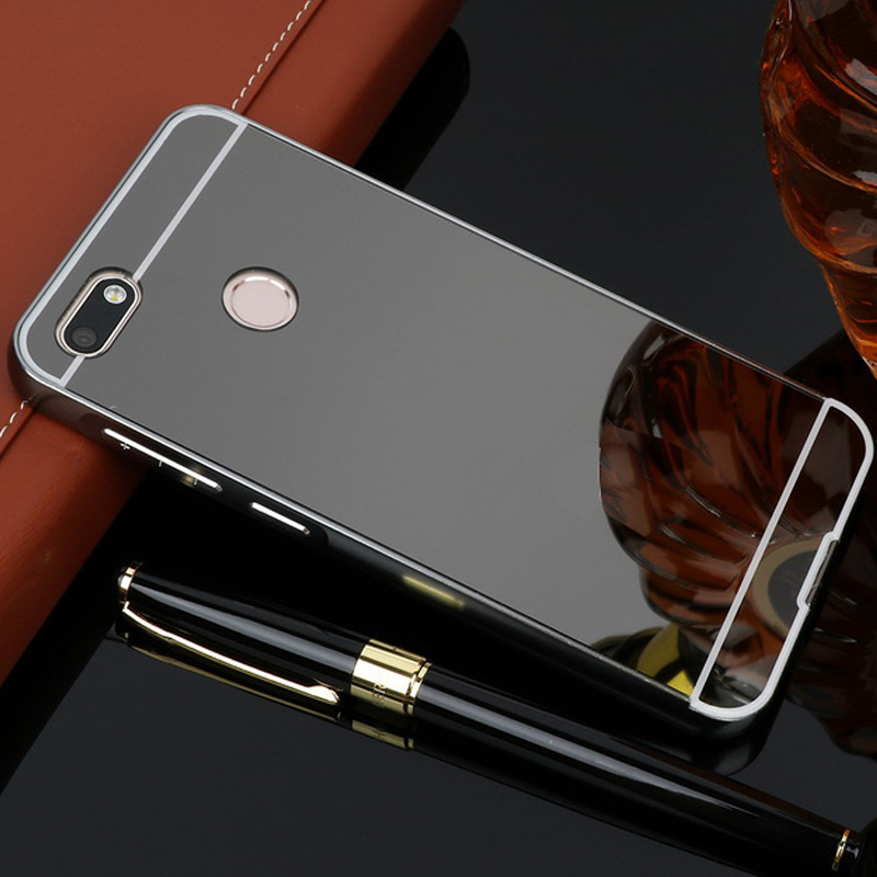 For OPPO F5 Case Aluminum Metal Bumper + Acrylic PC Back Phone Cases For OPPO F5 Youth Cover Mirror for OPPO F5 A73 A73T Case