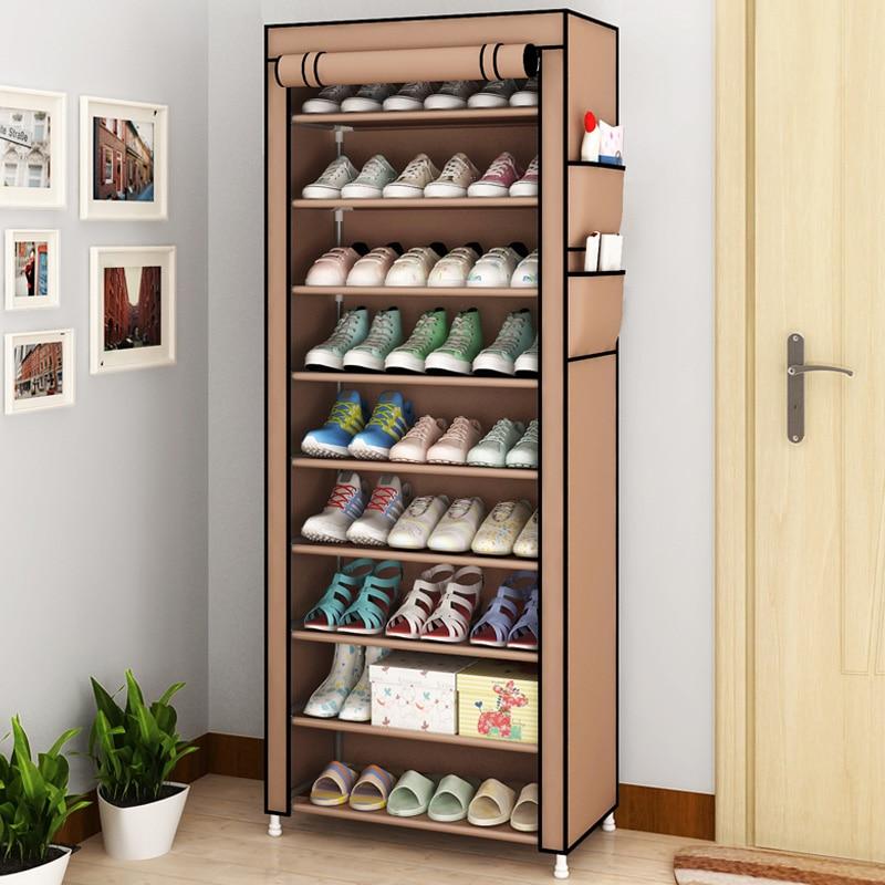 9 Nivel moderno zapato estantes de la tela de Oxford zapato taburete de  gabinete de almacenamiento de Multi-propósito de zapatos de Rack DIY zapatos  ... 231b5d3af7ce