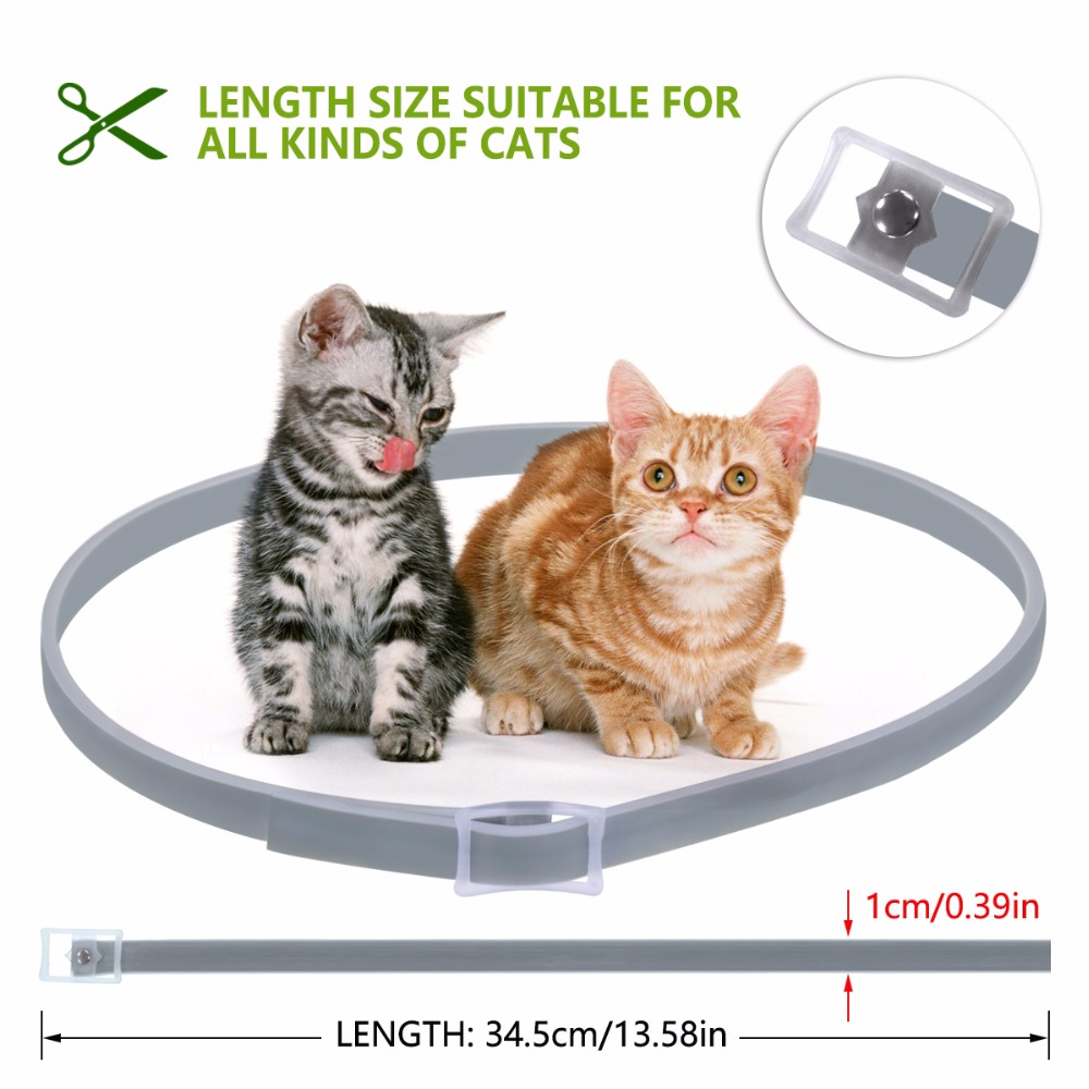 Dewel Cat Dog Collar Anti Flea Ticks Mosquitoes Outdoor Protective Adjustable PET Collar 8 Months Long-term Protection 12
