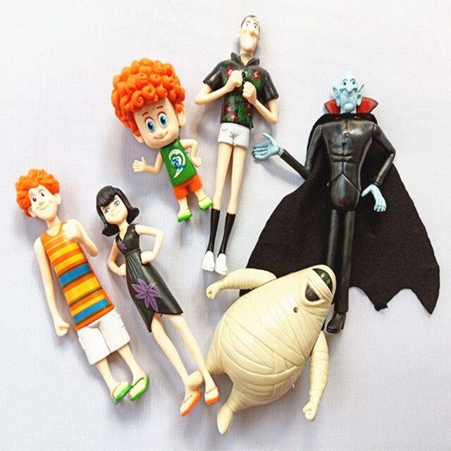 6 шт./партия «Монстры на каникулах» 3 фигурки игрушки Дракула Johnny Dennis Mavis забавная игрушка детский подарок