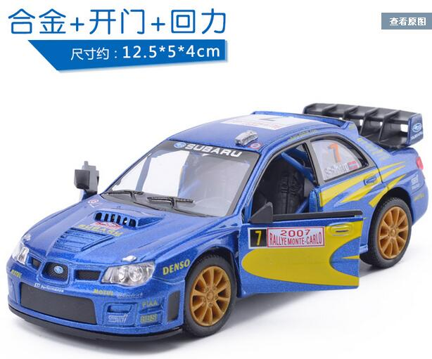 classic toys subaru impreza wrc 2007 alloy diecast models car electric toy cars for kids. Black Bedroom Furniture Sets. Home Design Ideas