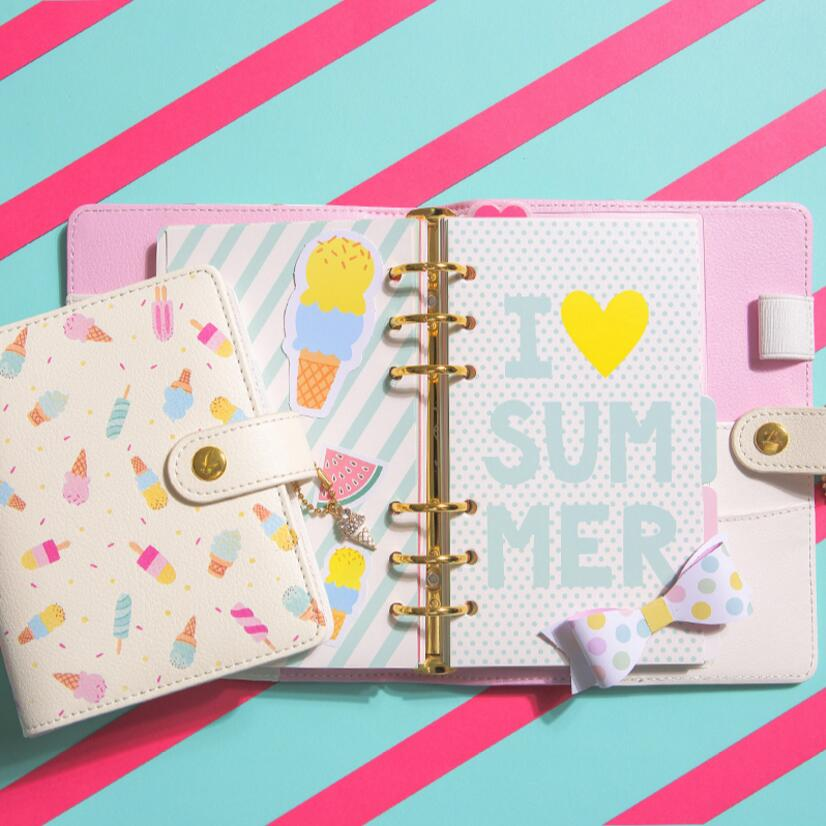 1 Pcs Lovely Ice Cream Planner A5 A6 A7 Notebook Diary Agenda DIY Diary Book Note