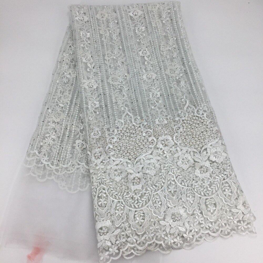 Ev ve Bahçe'ten Dantel'de 2018 son tasarım Yüksek kalite nijeryalı fransız örgü dantel parti elbise için afrika dantel kumaş 5 yards/lot FC17 FEN25'da  Grup 2