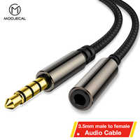 MOOJECAL Cable de extensión para auriculares Jack de 3,5mm macho a hembra Aux Cable de Audio de 3,5mm extensor de Cable para computadora iPhone jugador