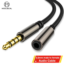 MOOJECAL Headphone Extension Cable 3.5mm Jack Male to Female Aux Cable 3.5 mm Audio Extender Cord For Computer iPhone Player цена и фото