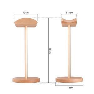 Image 2 - IMTTSTR uniwersalny stojak na słuchawki z prawdziwego drewna uchwyt na uchwyt do wieszaka na słuchawki