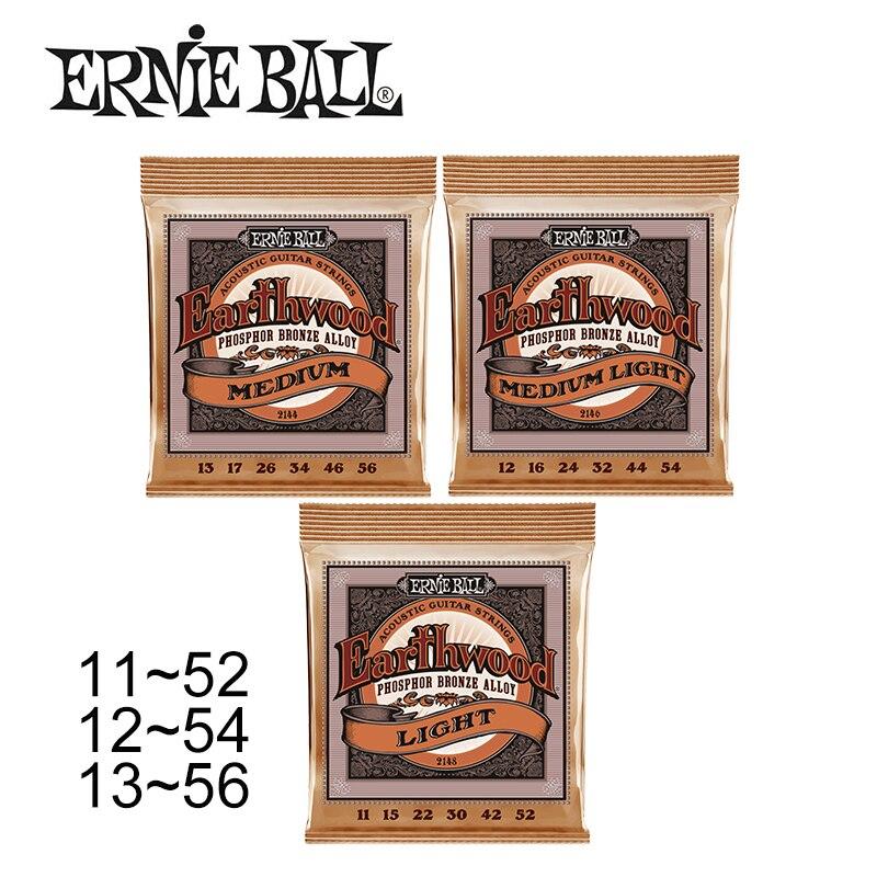 Jeu de cordes pour guitare acoustique dorigine Ernie Ball 2148 2146 2144 alliage Bronze phosphoreux 11-52/12-54/13-56
