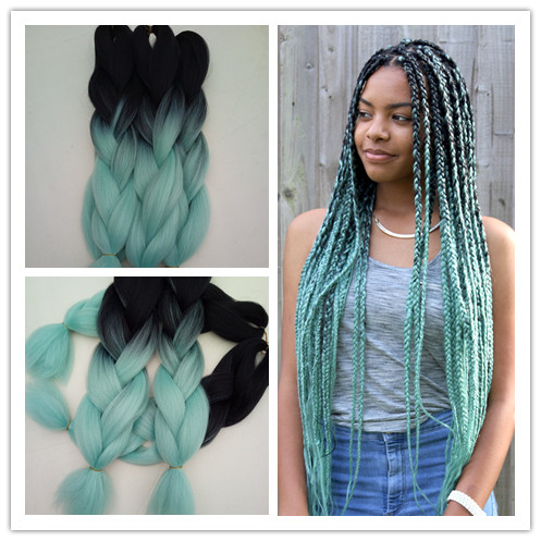 Hot Sale 10packslot 24inch BlackMint Green Blue Ombre
