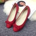 Мода женская обувь удобные плоские туфли Новое прибытие-71 Балетки обувь большого размера обуви квартир Женщин