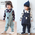 2016 Hot Selling New Bear Pattern Newborn Kids Baby Boys Girls Overalls Fashion Infant Costumes Baby Clothing Pant Trousers