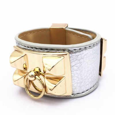 Elegant Star essential rivet Collier De Chien litchi pattern bracelet