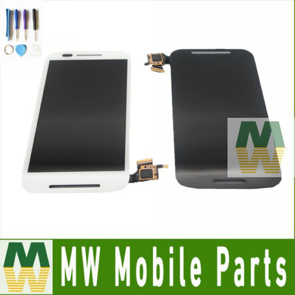 For Moto E XT1021 XT1022 XT1025 Black White LCD Display+Touch Screen Assembly  Digitizer 1PCS/Lot with tools