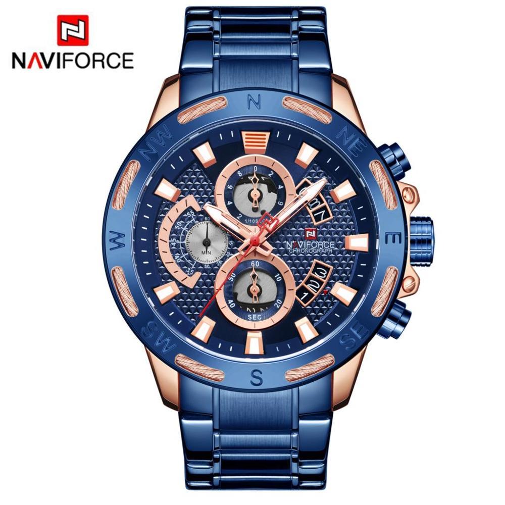 NAVIFORCE Brand Mens Watches Luxury Fashion Sport Watch Digital Quartz Men Military Wristwatch Clock Male Relogio Masculino 9165