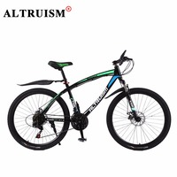 ALTRUISM Q1 Mountain Bike 24 Speed Bisiklet Steel Road Bike 26 Inch Double Disc Brake Velo