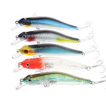 1PCS Fishing Wobbler 10g/8cm Suspend Minnow Pike Bass Fishing Lures With 6# Owner Hook peche isca artificial