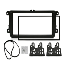 2 Din Car Fascia For VOLKSWAGEN Stereo Panel Dash Mount Installation Double Din Frame Install Kit Refit Fascia 178 *102mm free shipping good new double din fascia for renault logan tondar cd facia stereo panel dash mount install trim kit refit frame