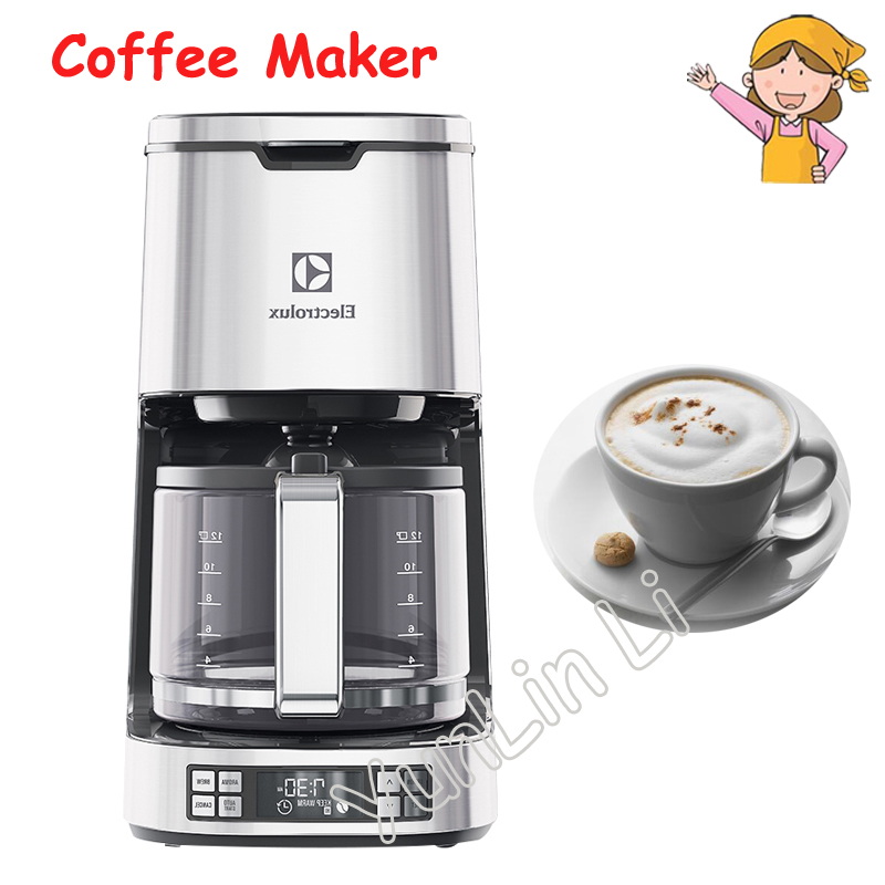 Coffee Maker Hourglass Coffee Machine Automatic Dripping Maker For Household/Commercial Coffee Maker Cafe Amerciano ECM7804S urnex dezcal coffee maker
