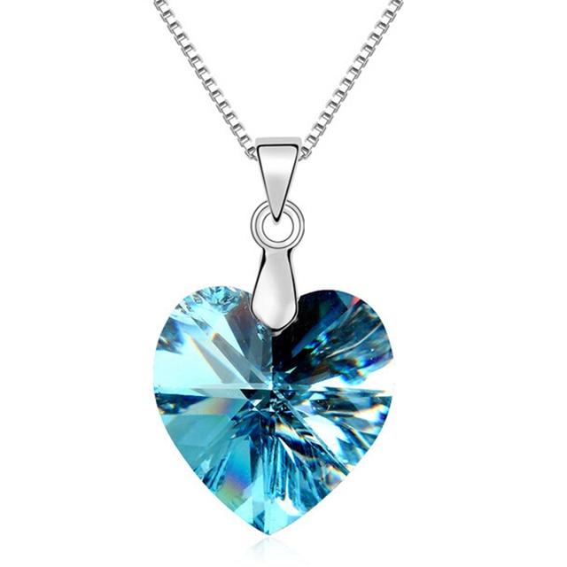 cf65d1e60d51 Mejores amigos colgante collar de corazón con cristal austriaco joyería de  la vendimia mujeres marca joyería