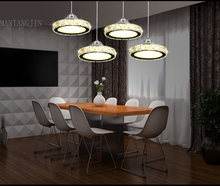 LED K9 crystal chandelier, round, multiple combination, living room lighting, aisle lighting, balcony lamp(China)