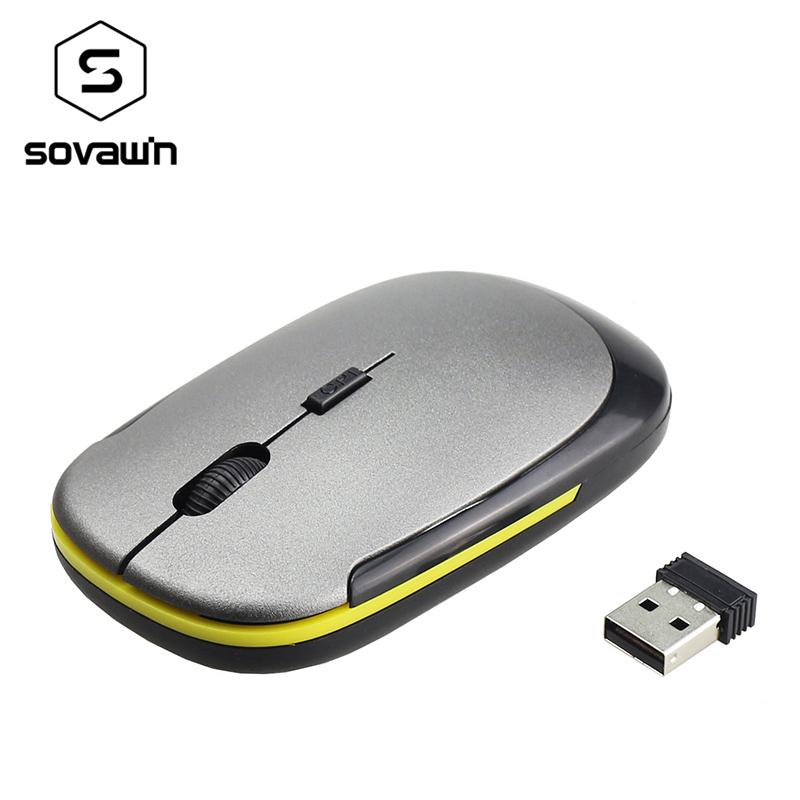 2.4G Wireless Mouse USB 2.0 Receiver Super Slim Mini Cute Optical Wireless Mouse USB Right Scroll Mice for Laptop PC Video Game trust vivy wireless mini mouse red usb 17355