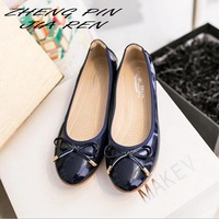 ZHENGPINJIAREN Big Size 43 Spring Summer Comfortable Career Ladies Flat Shoes Ballet Footwear Very Soft Flat Shoes
