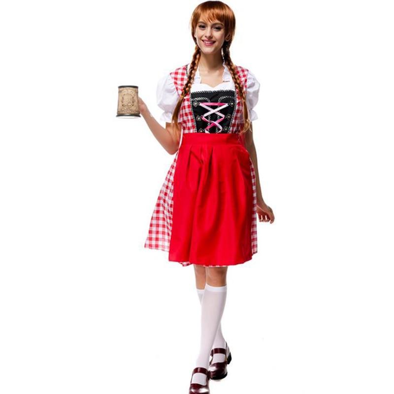 Fashion Oktoberfest Bavarian German Beer Waiter Halloween Costume Fancy Dress HX
