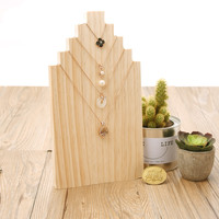 Pine Solid Wood Necklace Display Bust Pendant Display Stand Chain Holder Jewelry Display
