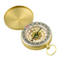 Portable Camping Compass Hiking Pocket Golden Compass Navigation for Outdoor Activities Bussola Compas Kompas(China)