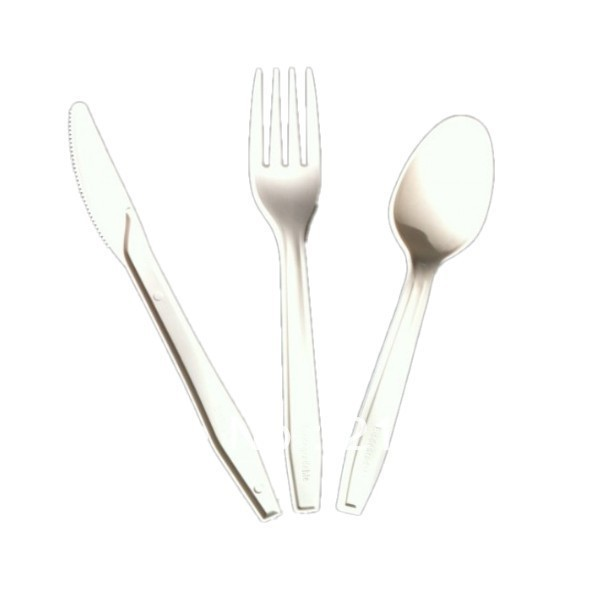 Eco Friendly Disposable Plastic Spork Cutlery Flatware Catering Restaurant Snack BBQ Camping Party Serving Fork Spoon Knife Set