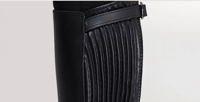 Equestrian Riding Leather Half Chaps  5