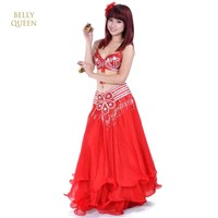 bollywood dance costume bellydance costume tribal belly dancing costume bra+belt+Dress Stage Dance Wear Ballroom Belly Dance set